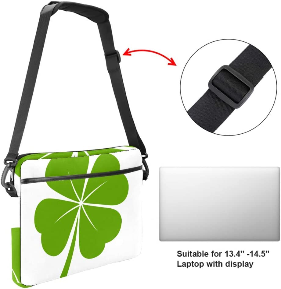 imobaby A Clovers Laptop Messenger Shoulder Bag Notebook Sleeve Carrying Briefcase Handbag 15-15.4 inches