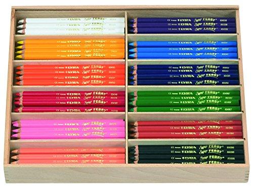 LYRA Super Ferby Holzkasten mit 144 Farbstiften, Sortiert