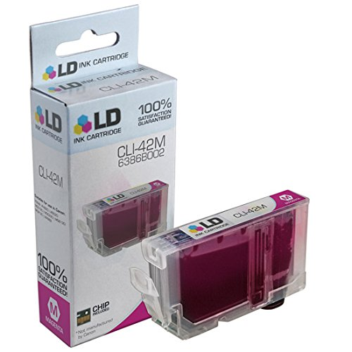 LD © Compatible Replacement for Canon 6386B002 / CLI-42M Magenta Inkjet Cartridge for use in Canon PIXMA PRO-100 Printer