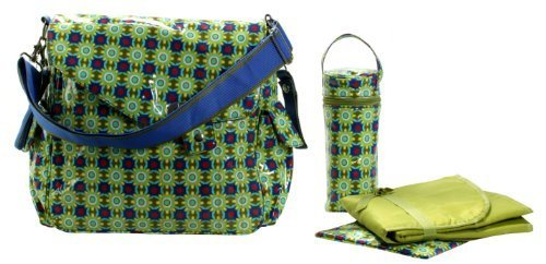 Kalencom Fashion Diaper Bag, Changing Bag, Nappy Bag, Mommy Bag (OZZ Coated Cobalt Star) by Kalencom by Kalencom