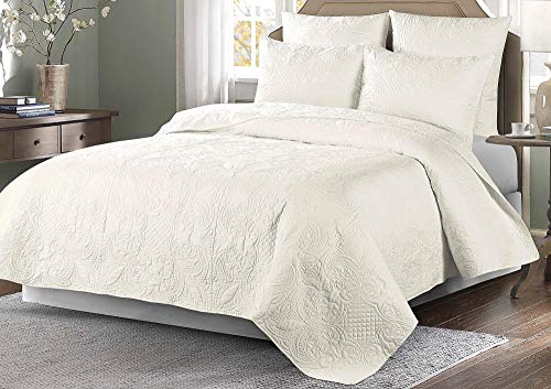 Coastal Home Venice Quilt Twin Ivory