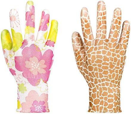 労働保護作業用手袋 労働保険手袋耐摩耗性滑り止め通気性ストライプ作業用手袋、12ペア (Color : Random colors, Size : S)
