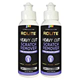 Rolite Heavy Cut Scratch Remover (4 fl. oz.) for Plastic & Acrylic Surfaces Including Marine Strataglass & Eisenglass, Headlights, Aquariums 2 Pack