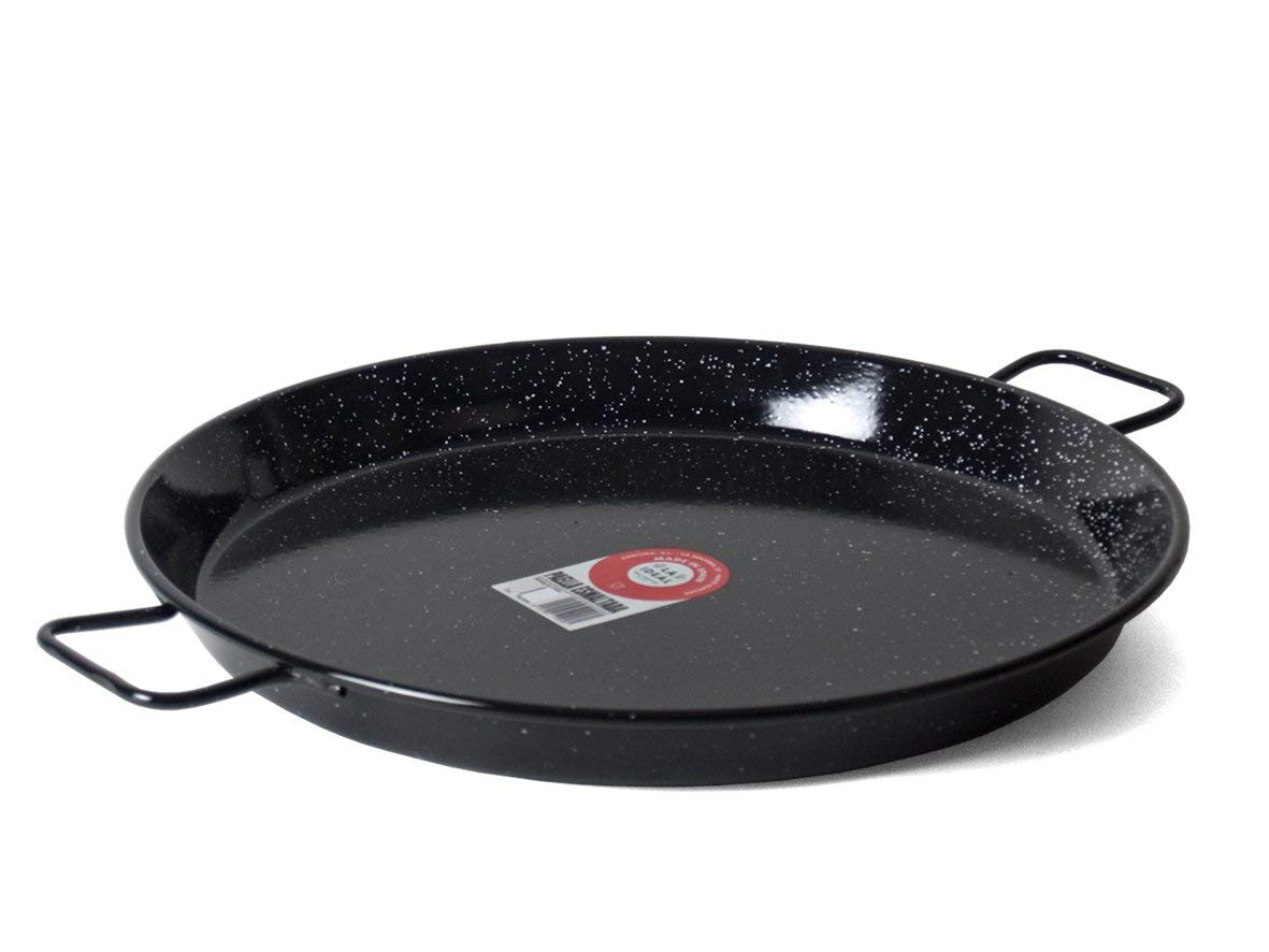 Garcima 22-Inch Enameled Steel Paella Pan by Garcima