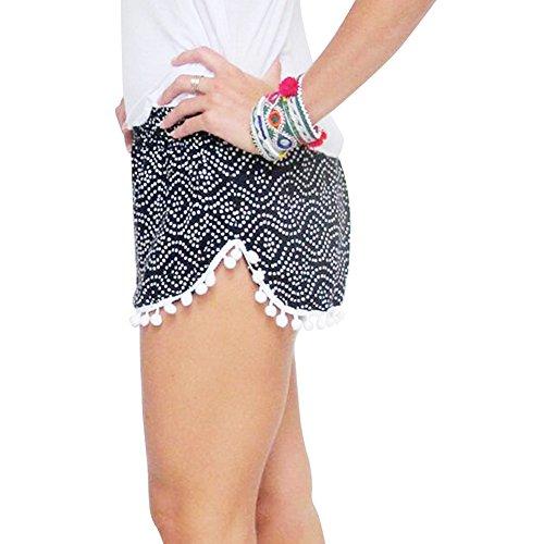 FADAYINH Womens Shorts Tassel Casual product image