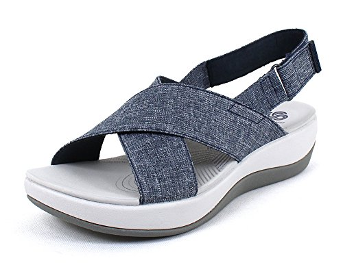 clarks-of-england-womens-arla-kaydin-navy-fabric-and-synthetic-sandals-6-bm-us