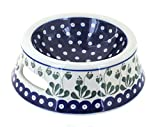 Polish Pottery Alyce Dog Bowl For Sale