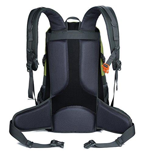 X2X Alpinismo Senderismo mochila impermeable bolsa de hombro al aire libre portátil deportes mochilas 40L (1Verde) 1Negro