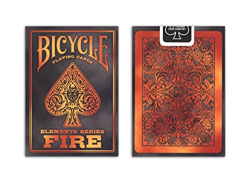 English Playing Card - Bicycle Fire Element Poker Size Standard Index Playing Cards