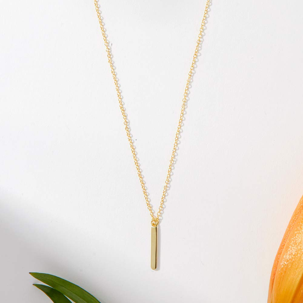 Dear Ava Mothers Day Necklace Bar Gold-Plated-Brass, NA Mothers Day Jewelry