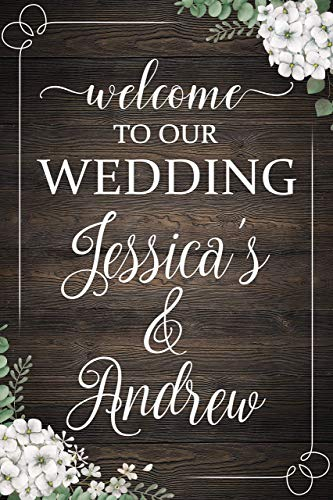 Rustic Wedding Party Welcome Sign, Wooden Signs, Wedding Party Decorations, Rustic Wedding Signs, Welcome Sign, Wedding Reception Signs, Handmade Party Supply Poster Print 24x36,18x24