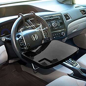 amazon com evelots auto tray eating laptop steering wheel desk rh amazon com steering wheel desk walmart steering wheel desk reviews