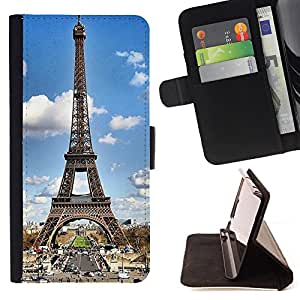 Pattern Queen - Paris Eiffel Tower - FOR Sony Xperia Z1 Compact D5503 - Hard Case Cover Shell