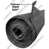 16 feet x 3.75 feet Wide Polymat Charcoal / Dark Grey Speaker Box Carpet Rv Truck Car Trunk and Interior Liner, Dj Cabinet Carpet
