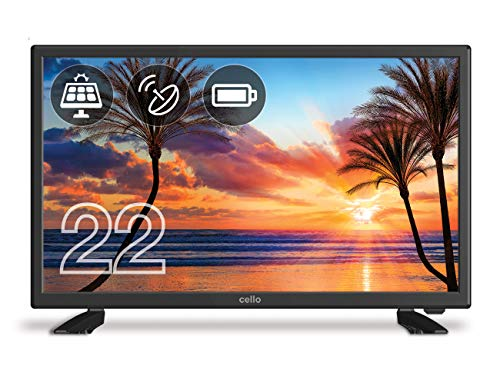 Cello C22277T2S1 22″ inch Battery Operated & Solar LED TV with Freeview T2 HD & Satellite Tuner Black