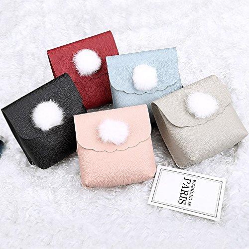 Bags PU Red Bag Feathers Shoulder GMYAN Gray Pink Blue Fur Blushing Women's U5qpf
