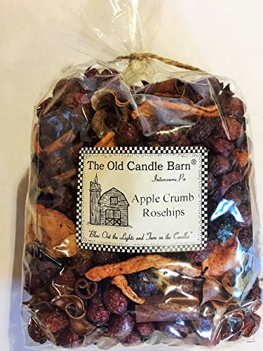 Apple Crumb Rosehips Large Bag - Well Scented Potpourri - Made In USA by Old Candle Barn