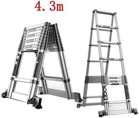 ZPWSNH Escalera Plegable casa telescópica portátil de Doble Cara Escalera de Espina Gruesa ingeniería de aleación de Aluminio Taburete (Size : 3.8m+3.8m): Amazon.es: Hogar