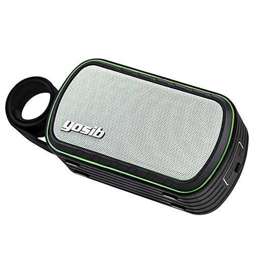 IXP7 Waterproof Bluetooth Speaker with Dustproof and Shockproof,Portable Hand-clasp, Build-in Handsfree Phone Call Function. (Green)