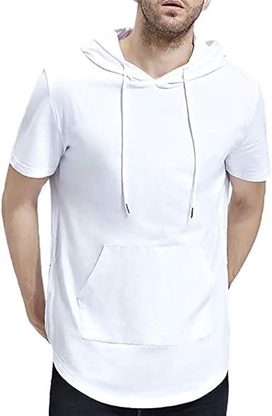 Mode Hommes Sans Manches T-shirt Loisirs Capuche été Tank Top Chemise