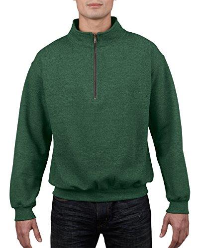 Gildan Adult Vintage 1/4Zip Sweatshirt Farbe = Meadow Größe = L