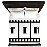 King Duvet Cover FIN: Old Hollywood Movie Ending