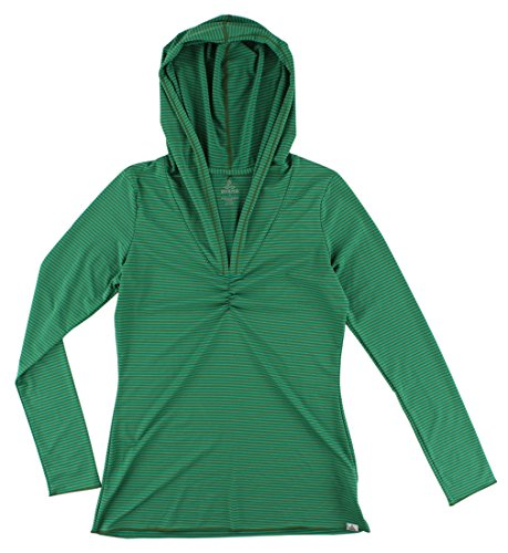 (prAna Perry Stripe Pullover, Dynasty Green XS (Women's 0-2))
