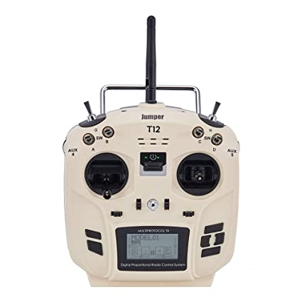 Jumper T12 2 4G 12-CH OpenTX Multi-Protocol Transmitter Hall Gimbal w/  4-in-1 Module 1 7 inch LCD - Mode 2 (White)