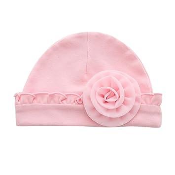 5430b1fc97a Bebe Fille   Garcon Naissance Bonnet Contton Chaud Hiver (Rose) ...