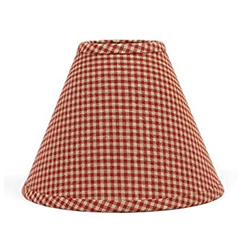 """Red Gingham Lamp Shade: Home Collection by Raghu Newbury Gingham Barn Red Lampshade, 14"""",Lighting"""