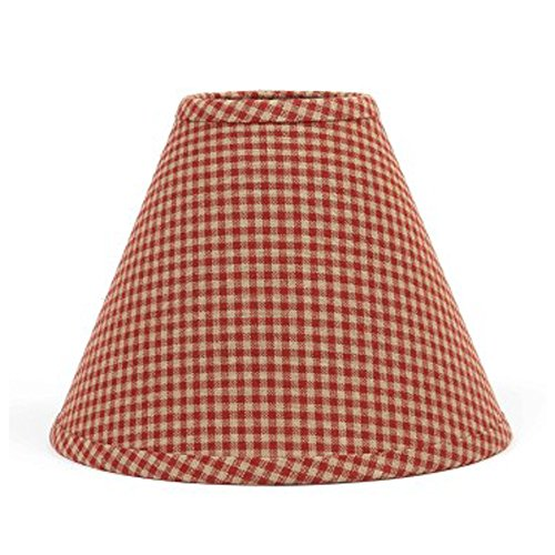 Home Collection by Raghu Newbury Gingham Barn Red Lampshade,