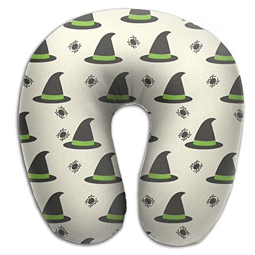 (AXZC5pm Memory Foam Neck Pillow,Witch's Hat Travel U-Shaped Pillow)