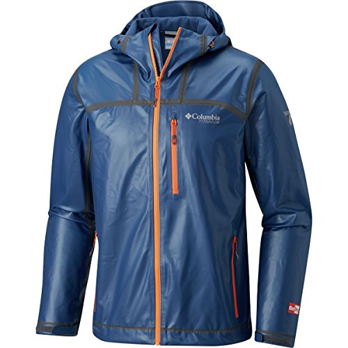 Columbia Titanium Outdry Ex Stretch Hooded Shell Jacket - Men's Carbon, XL by Columbia