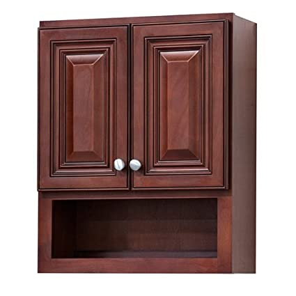 Grand Reserve Cherry Bathroom Wall Cabinet Home