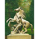 Oil painting 'Sculpture of a Man and a Horse' printing on high quality polyster Canvas , 16x21 inch / 41x54 cm ,the best Living Room decor and Home gallery art and Gifts is this Imitations Art DecorativePrints on Canvas