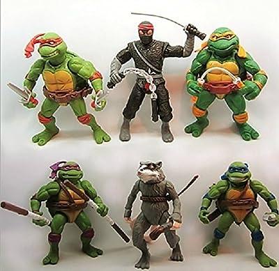 6pcs Teenage Mutant Ninja Turtles Figure Action Classic Collection Toy Set