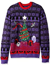 Blizzard Bay Mens Tinsel Bats Ugly Christmas Sweater Sweater
