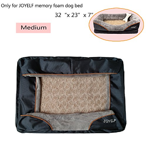 JOYELF Medium Memory Foam Dog Bed Replacement Cover for 32''