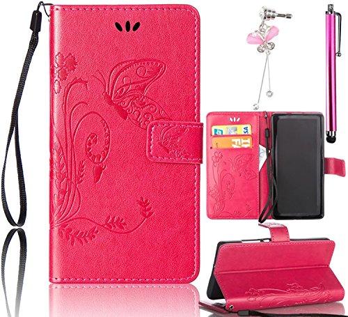 4 opinioni per Cover Galaxy S8 Rosso,Bonice Custodia Retro Fiore Modello Design Con Cinturino