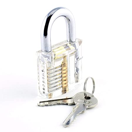 Lokko Crystal Lock Pick Training Practice Padlock for Beginners - Discover  How A Lock Works