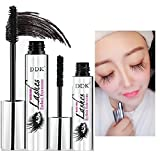 DDK 4D Mascara Cream Makeup Lash Cold Waterproof Mascara Eye Black Eyelash Extension crazy long Style Warm Water Washable Mascara