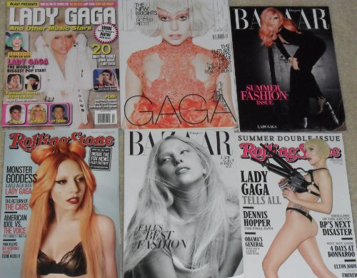 (Lady Gaga Magazines (Elle, Vanity Fair, Harper's Bazaar, etc) MINT)