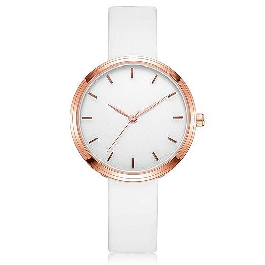 WINWINTOM Moda Mujer Reloj AnalóGico De Cuarzo Simple Casual, Relojes De Pulsera De Banda (