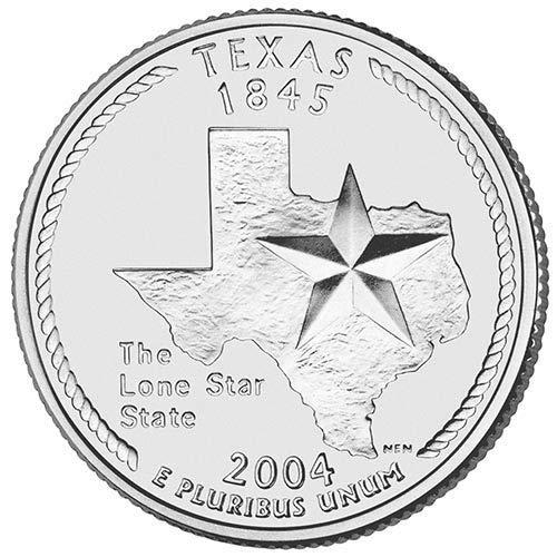 2004 P & D BU Texas State Quarter Choice Uncirculated US Mint 2 Coin Set