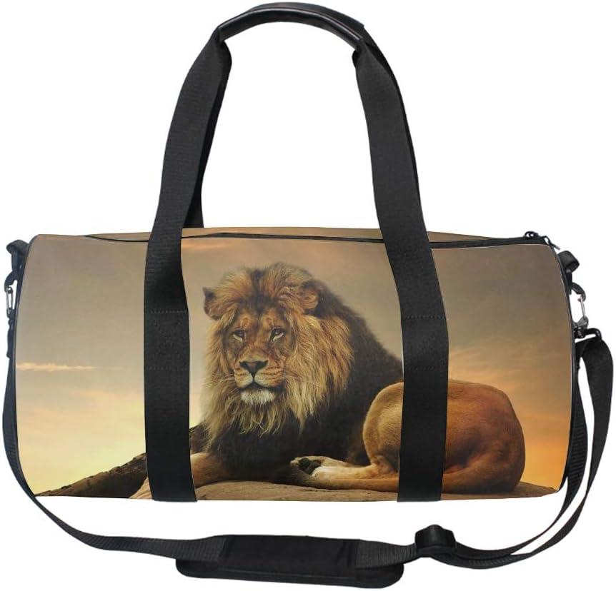Gym Bag Lion Sports Travel Duffel Lightweight Canvas Bag