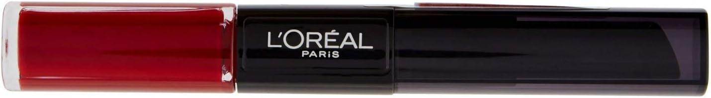L'Oréal Paris Pintalabios 24H Permanente, Color Rojo 700 Boundless Burgundy