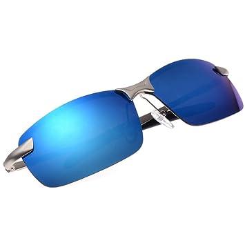 fb220325ad QHGstore Mens Polarized Sports Driving Sunglasses Mirrored Sun Glasses  Eyewear Silver Ice Blue