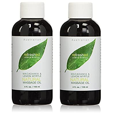 Tea Tree Therapy Macadamia and Lemon Myrtle Natural Massage Oil, 4 Fluid Ounce…
