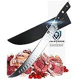 "Dalstrong Butcher's Breaking Cimitar Knife - Gladiator Series 10"" Slicer - German HC Steel - Sheath Guard Included"