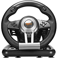 PXN V3II PC Racing Wheel, 180 Degree Universal Usb Car Racing Game Steering Wheel with Pedal for Windows PC, PS3, PS4, Xbox One, Nintendo Switch(Black)